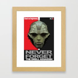 NEVER FORGET - Thane Krios - Mass Effect Framed Art Print