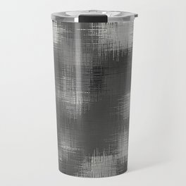 black and white plaid pattern Travel Mug