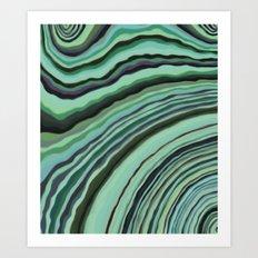 Mineralicious~Mint Tourmaline Art Print