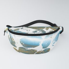 Blue Pebbles On White Fanny Pack