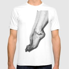 woman legs Mens Fitted Tee White MEDIUM