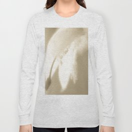 Wintery Day Dream White Flower On A Beige Background #decor #society6 Long Sleeve T-shirt