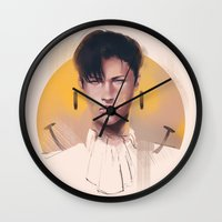 snk Wall Clocks featuring Smile by emametlo