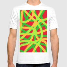 lively lines MEDIUM Mens Fitted Tee White