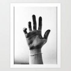 Working Hands (I Dye) Art Print