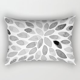 Watercolor brush strokes - black and white Rectangular Pillow