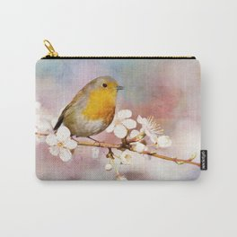 Portrait of a Robin in Spring Carry-All Pouch