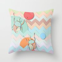 insect Throw Pillows featuring Insect VI by dogooder
