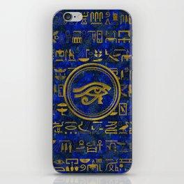 Egyptian Eye of Horus - Wadjet Lapis Lazuli iPhone Skin