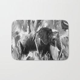 African Elephant - Peaches Bath Mat