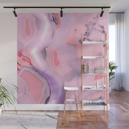 Living Coral and Purple Agate Wall Mural