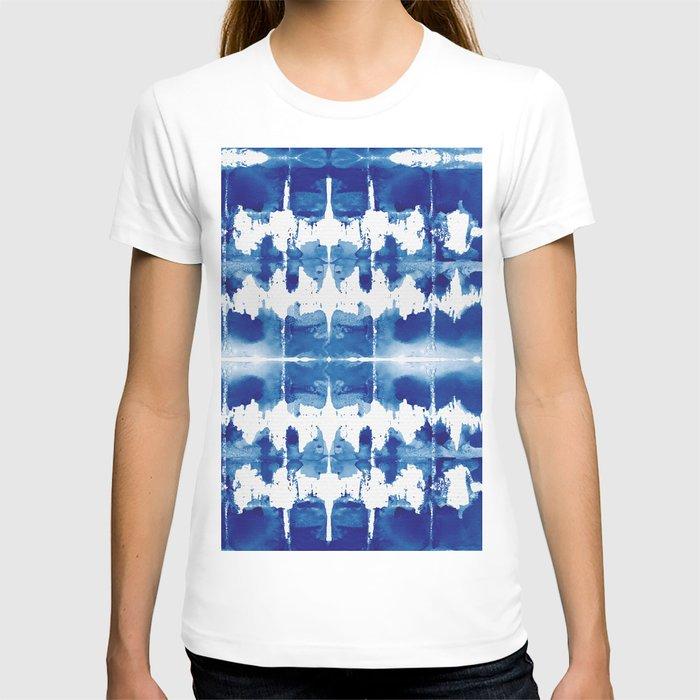 Shibori Tie Dye Indigo Blue T-shirt