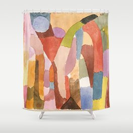 Movement Of Vaulted Chambers by Paul Klee 1915 Shower Curtain