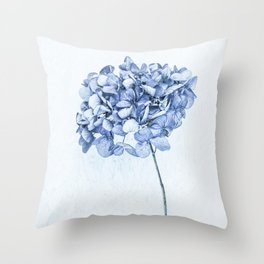 Hydrangea Blue 2 Throw Pillow