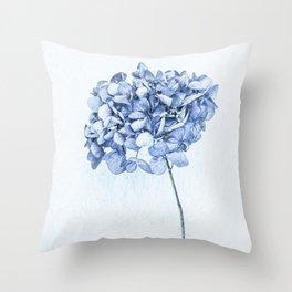 Hydrangea Blue 2 Throw Pillow