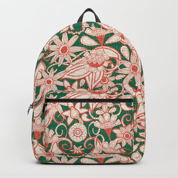 sarilmak palm fire orange Backpack