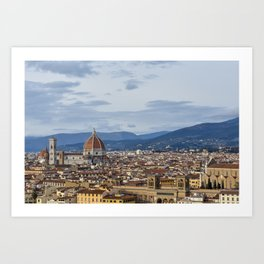 Florence Skyline from Piazza Michelangelo Art Print