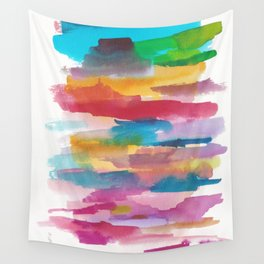 180812 Abstract Watercolour Expressionism 1  Colorful Abstract   Modern Watercolor Art Wall Tapestry