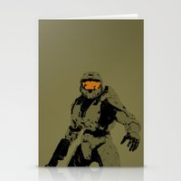 master chief Stationery Cards featuring Master Chief Redux by Anthony Bellus