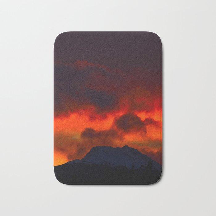 Fire Red Sunrise Bath Mat