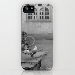 Chickens at home iPhone Case