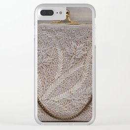 Vintage Hong Kong Beaded Purse Clear iPhone Case