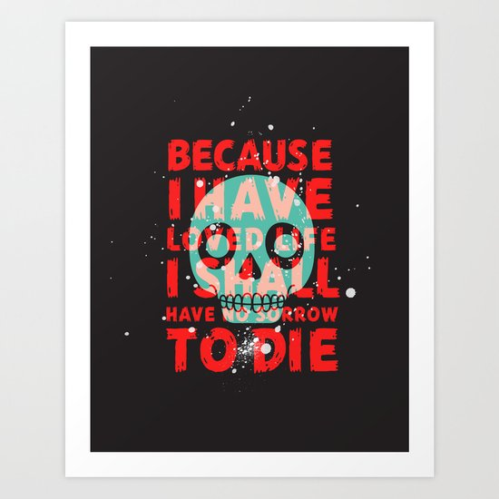oh dang, death is all complicated and shit Art Print