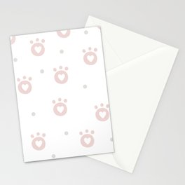 Baby Puppy Paws - Baby Pattern Stationery Cards