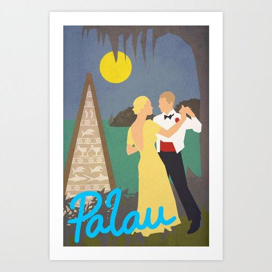 Tribute to Palau and Adolph Treidler Art Print