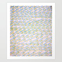 Waves and Waves Art Print