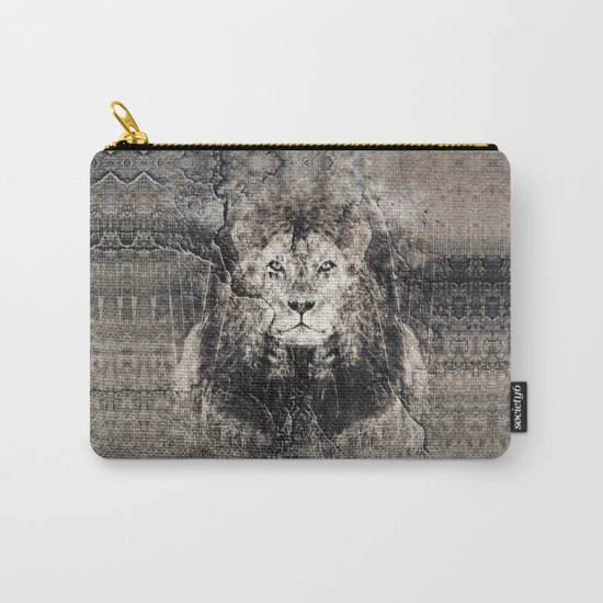 Lion Stone Carry-All Pouch