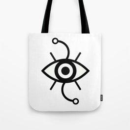 Wondering Eye (Black) Tote Bag