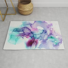 Mermaid Flamingo Blended Stacked Chaos Rug