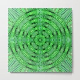 282 - Abstract Fern Orb Metal Print