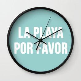 La Playa Por Favor Wall Clock