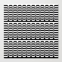 techno Canvas Prints featuring Techno Zebra by Lyle Hatch
