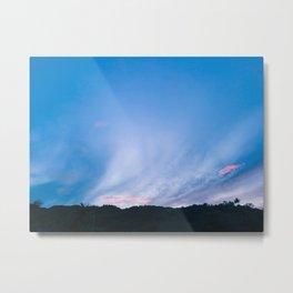 SUNSET SKIES   Real, Quezon III Metal Print