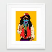 mcfreshcreates Framed Art Prints featuring Way Too Popular by McfreshCreates