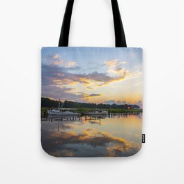 Sunset on Jones Creek Tote Bag