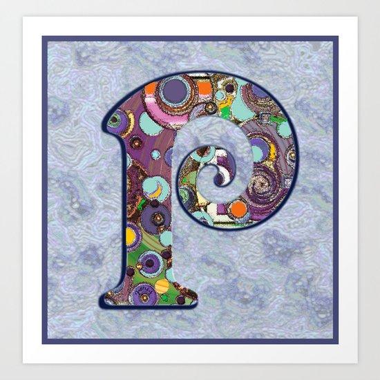 The Letter P Art Print