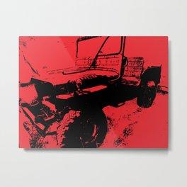 Army Jeep Metal Print