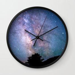 The Night Sky II - glowing stars Wall Clock