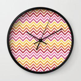 Rainbow Chevron #1 Wall Clock