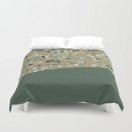 Terrazzo Texture Military Green #4 Duvet Cover