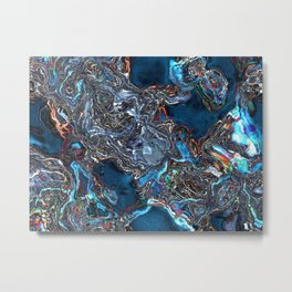 Abstract Waves of Color Metal Print