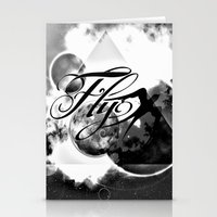 decal Stationery Cards featuring fly away bw by haroulita