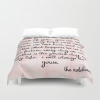 notebook Duvet Covers featuring Notebook by courtneeeee