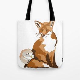 El zorro y la lechuza Tote Bag