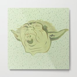 Yoda and the green force Metal Print