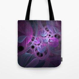 Luminous Abstract Fractal Art Pink And Blue Tote Bag